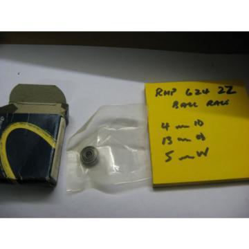 Belt Bearing RHP  M282249D/M282210/M282210D  624 ZZ metal shielded ball bearing race.4mm id x 13mm od x 5mm wide..