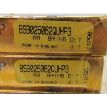 Industrial Plain Bearing RHP  EE665231D/665355/665356D  BSB025062QUHP3 RR SRIH5 D:T Matched Set of 4 Super Precision Bearings NIB