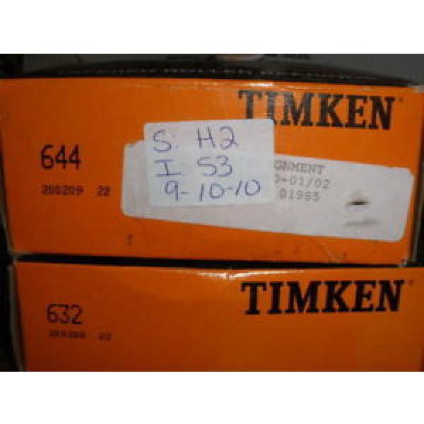 NEW IN BOX NIB TIMKEN TAPERED ROLLER BEARING 644 AND 632