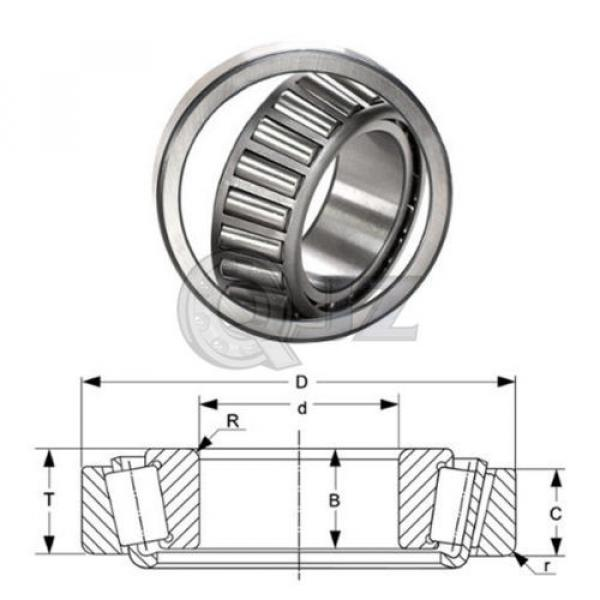 2x 497-493 Tapered Roller Bearing QJZ New Premium Free Shipping Cup & Cone Kit #4 image