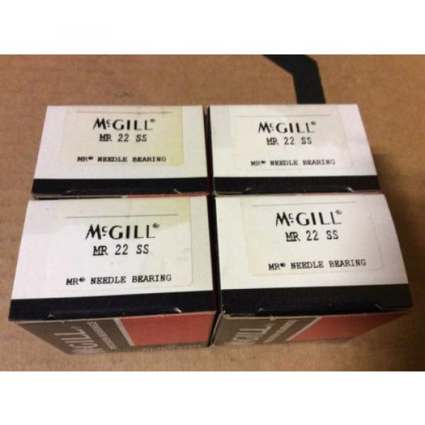 4-McGILL bearings#MR 22 SS ,Free shipping lower 48, 30 day warranty!