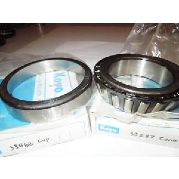 Koyo #33287 Tapered Roller Bearing Cone & Koyo #33462 Cup Set, New.