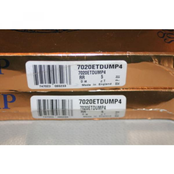 Tapered Roller Bearings New  530TQO780-1  RHP Super Precision Bearings 7020 ETDUMP4 (2MM9120.WI.DUM)