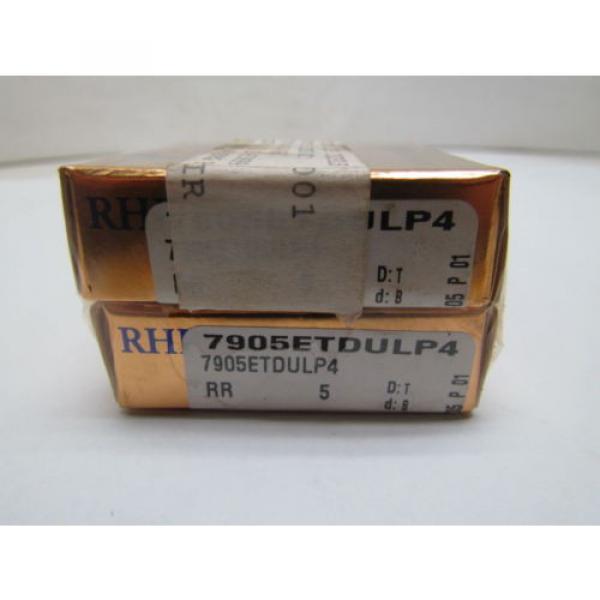 Belt Bearing RHP  500TQO710-1  7905ETDUMP4 7905ET DUM P4 Super Precision Bearings Set of 2