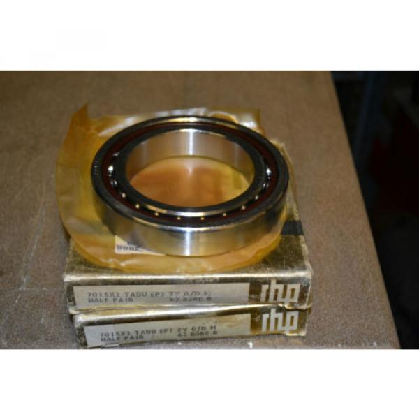 Roller Bearing (Lot  500TQO720-1  of 2) RHP Preceision 9-7-5 Bearings, 7015X2 TAU EP7 ZV 0/D M, 62 BORE B #2 image