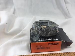 """TIMKEN TAPERED ROLLER BEARING 15125 ,CONE, 1 1/4 """" ID NEW OLD STOCK"""