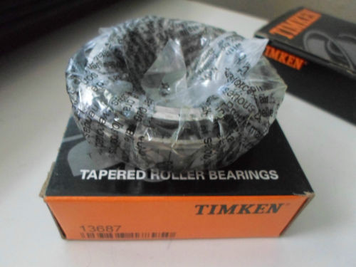 (2) Timken 13687 Bearings Auto Transmission Transfer Shaft Tapered Roller Cone