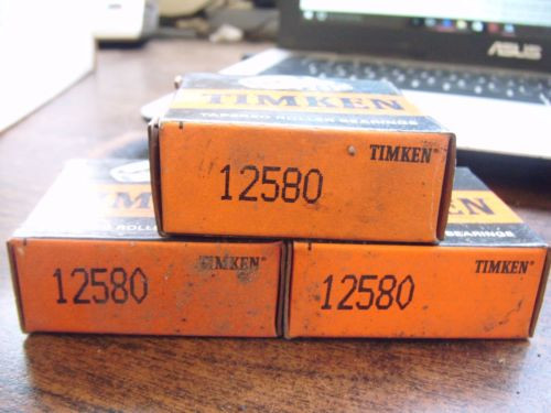 NEW TIMKEN LOT OF 3 TAPERED CONE ROLLER BEARING 12580