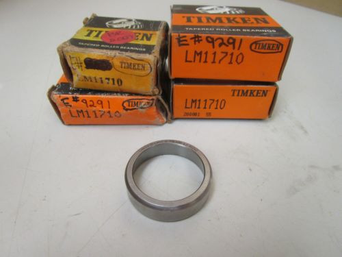 """NEW TIMKEN TAPERED ROLLER BEARING OUTER RACE LM11710 """"LOT OF 4"""""""
