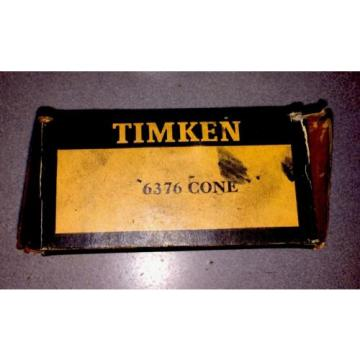 Timken 6376 Tapered Roller Bearing, Single Cone, Standard Tolerance, Straight