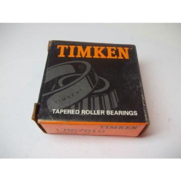 NIB TIMKEN TAPERED ROLLER BEARINGS MODEL # LM67010 NEW OLD STOCK 200008 99
