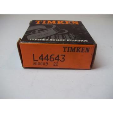 NIB TIMKEN TAPERED ROLLER BEARINGS MODEL # L44643 NEW OLD STOCK 200009 22