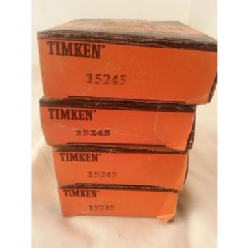 TIMKEN 15245 TAPERED ROLLER BEARINGS RACER CUP NOS AIRCRAFT LOT OF 4!