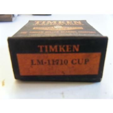 1 NIB TIMKEN LM11710 TAPERED ROLLER BEARING CUP NOS VINTAGE