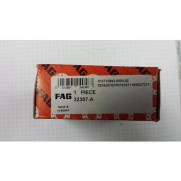 32307-A FAG Tapered Roller Bearing  Metric with Race