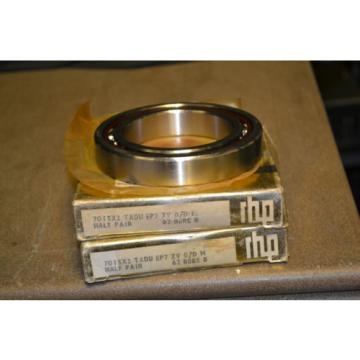 Roller Bearing (Lot  500TQO720-1  of 2) RHP Preceision 9-7-5 Bearings, 7015X2 TAU EP7 ZV 0/D M, 62 BORE B