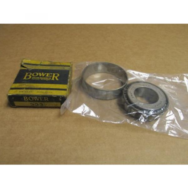 """NEW BOWER 339 TAPERED ROLLER BEARING 1 3/8"""" BORE & 333 RACE / CUP 3 5/32"""" OD #1 image"""