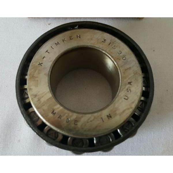 TIMKEN BOWER # 31590 TAPER ROLLER BEARING MADE IN USA NEW OLD STOCK NOS #1 image