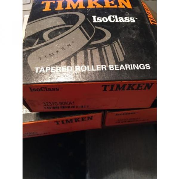 Timken ISOClass 32310-90KA1 Tapered Roller Bearings-New In Box #1 image