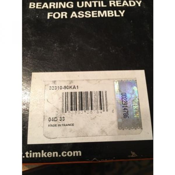 Timken ISOClass 32310-90KA1 Tapered Roller Bearings-New In Box #4 image