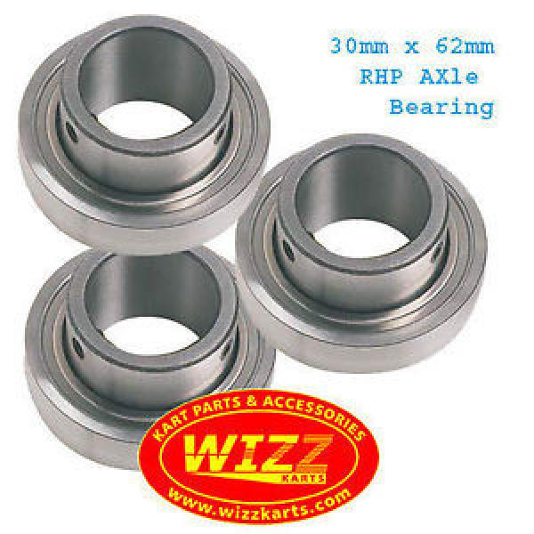 Tapered Roller Bearings RHP  3806/780/HCC9  Set of 3  30mm x 62mm Axle Bearing FREE POSTAGE WIZZ KARTS #1 image